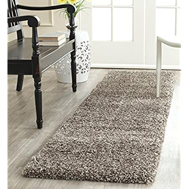 Safavieh Milan Shag Collection SG180-8080 Grey Area Rug (2' x 4')