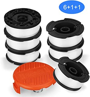 SUERW Line String Trimmer Replacement Spool, [8-Pack] 30ft 0.065
