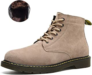 SF Men's Shoes, Autumn and Winter High Help Martin Boots, British Style Men's Boots, Tooling Shoes, Leather Short Boots (C...