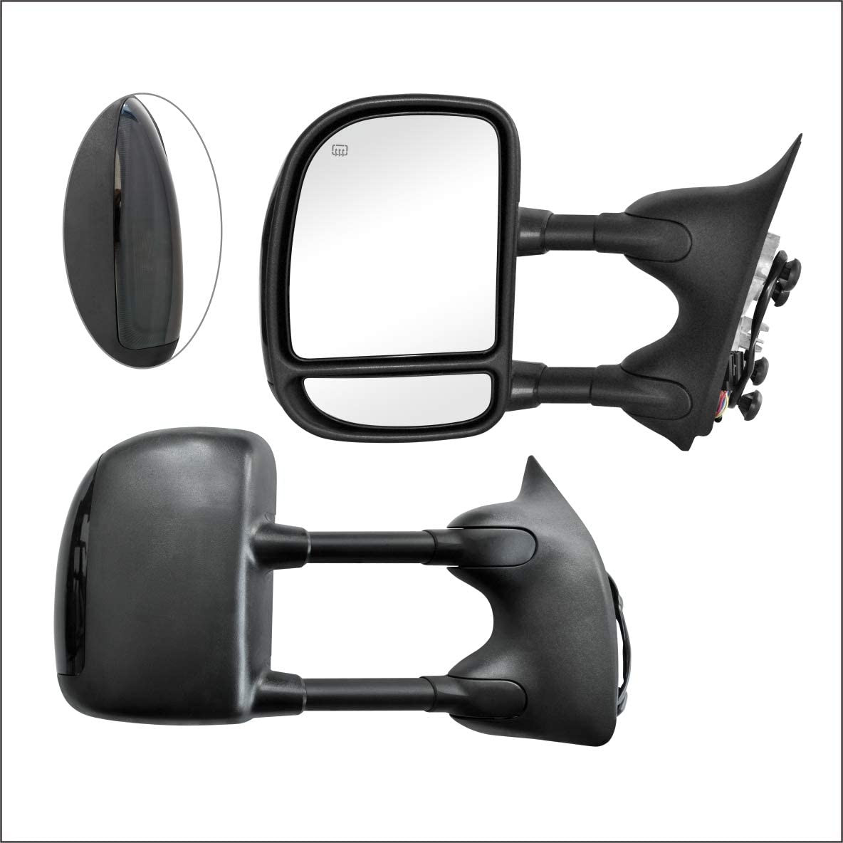 Perfit Zone Towing Mirrors Replacement Fit for 1999-2007 F-250 F