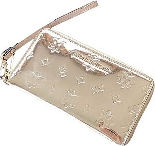 Jet Set Large Gold Metallic Phone Case Wristlet Wallet
