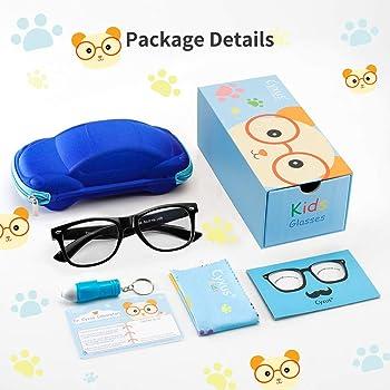 Cyxus Blue Light Blocking Glasses for Kids and Teens Anti Eyestrain Eyewear (6101T01,Black)