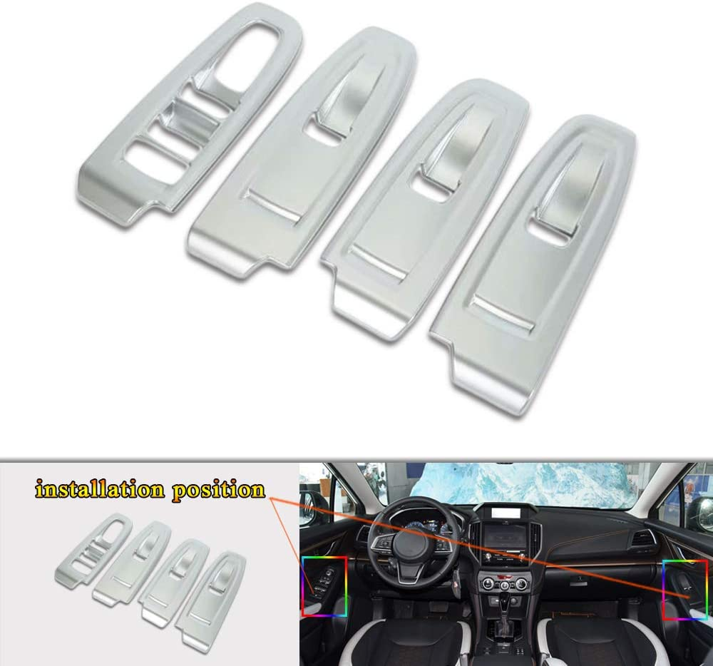 Fresno Mall COOLNEIL Interior Door Armrest NEW before selling Window Switch Button Covers