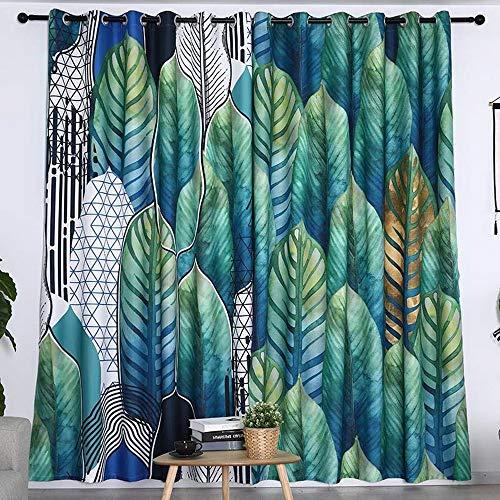 NA Vorhang nordische Art grüne Pflanzen kleine frische Schlafzimmer Vorhang hängen Stoff Hintergrund Stoff Klettverschluss Schattierung