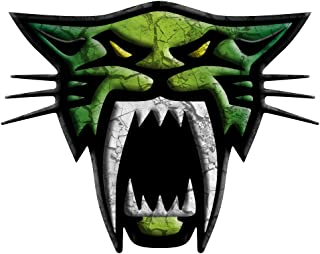 ARCTIC CAT SABER CAT - CRACKED ( DARK GREEN - CHARTREUSE - DARK GREEN ) DECAL KIT : ATV Car Snowmobile SUV Trailer Truck Sticker Sheet Canvas Tint Window Cling