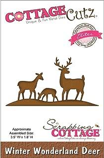CottageCutz CCE049 Elites Die Cuts, 3.5 by 1.8-Inch, Winter Wonderland Deer