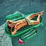 AYDQC Cama de natación Flotante, Agua colchón Inflable, Cama Flotante Marino Playa de Cactus, Juguetes inflables, Juguetes de los Juguetes del Partido sofá fengong