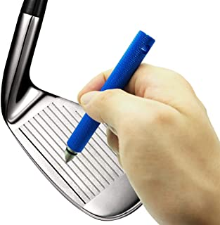 Golf Club Groove Sharpener Sharpening Tool Re-Grooving Cleaning Tool and Cleaner for Wedges & Irons