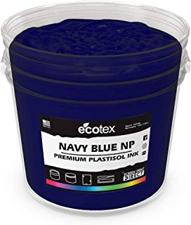 Ecotex Navy Blue NP Plastisol Ink for Screen Printing - Non Phthalate Formula - All Sizes (Pint)