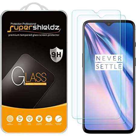 (2 Pack) Supershieldz Designed for OnePlus 7T Tempered Glass Screen Protector, Anti Scratch, Bubble Free