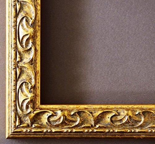 Online Galerie Bingold Bilderrahmen Mantova Gold 3,1 - Über 14000 Größen - 50 x 75 cm - Leerrahmen ohne Glas - Maßanfertigung ohne Aufpreis