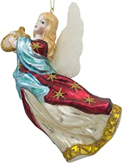 BestPysanky Guardian Angel Holding a Red Heart LED Lights Figurine 11.5 Inches
