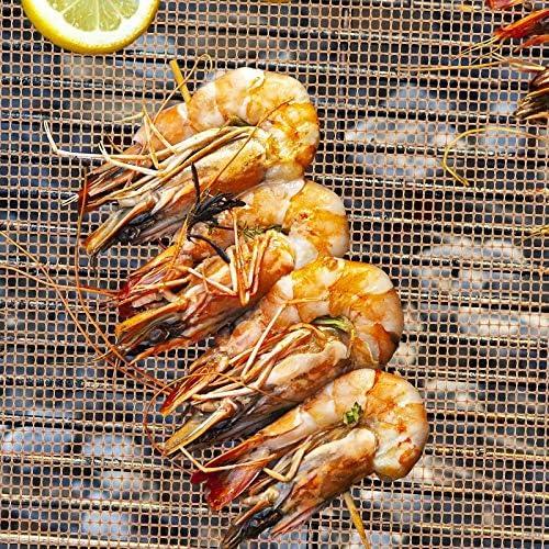 3 Pcs BBQ Grill Tapis Antiadhésif Barbecue Tapis De Cuisson Mesh Résistant À La Chaleur Roaster Tapis De Cuisson Outils Accessoires (Color : 3 Pcs no mesh) 3 Pcs Mesh
