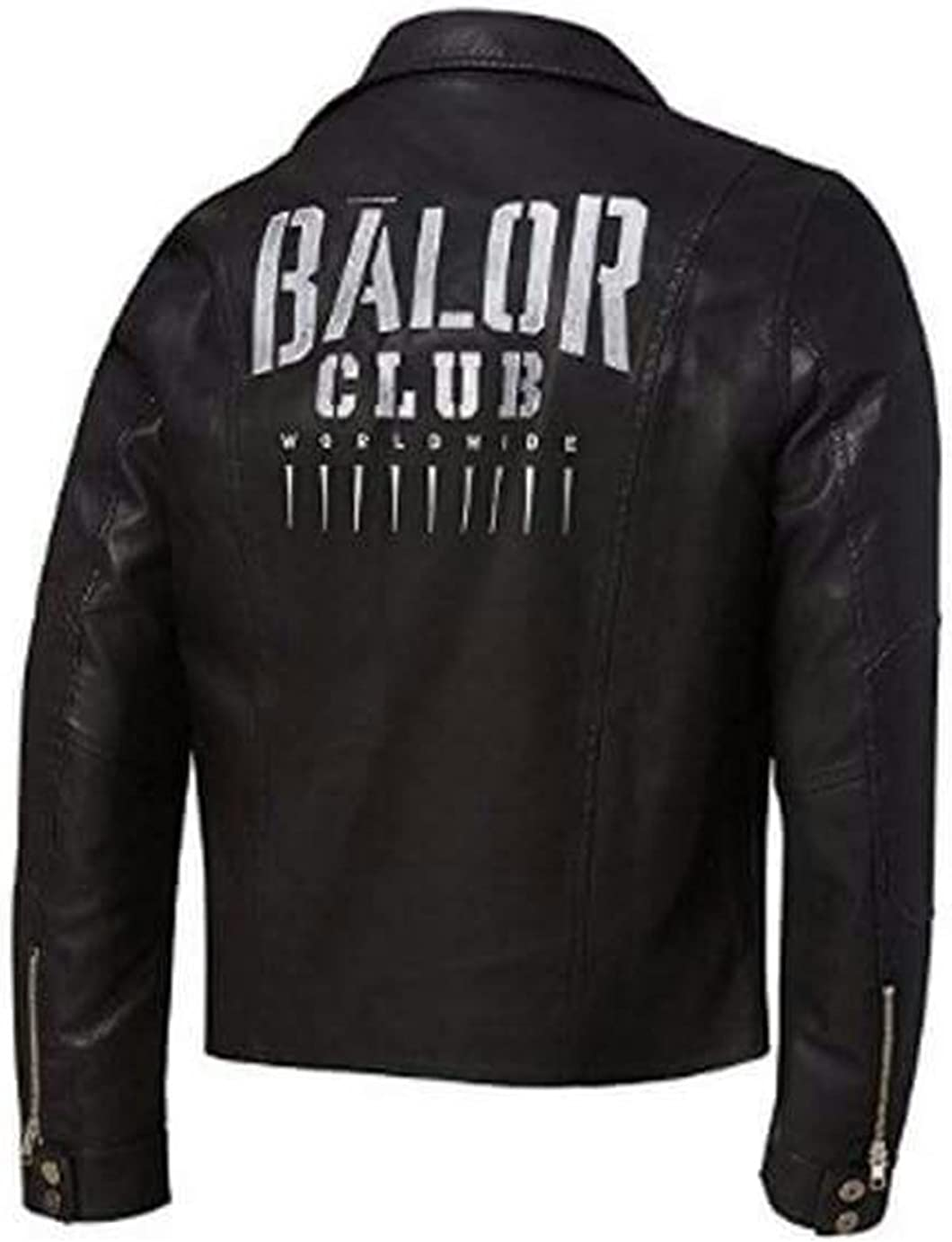 Men's Fin Balor Club Motorcycle Slim Fit Biker Style Black Synthetic Leather Jacket