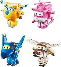 Super Wings US710620 Transform-A-Bots Donnie, Dizzy, Jerome, Bello, Toy Figures, 2