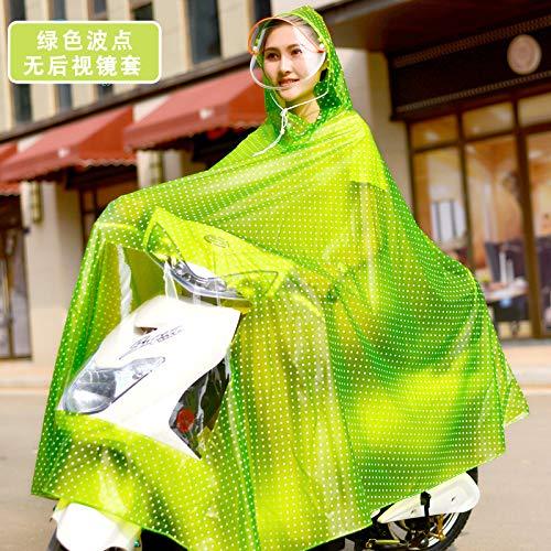 ZDDBD Impermeable Motocicleta Eléctrica Adulto No Desechable Bicicleta Montar Mujer Poncho De...