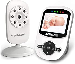 Video Baby Monitor with Digital Camera, ANMEATE Digital 2.4Ghz Wireless Video Monitor with Temperature Monitor, 960ft Tran...