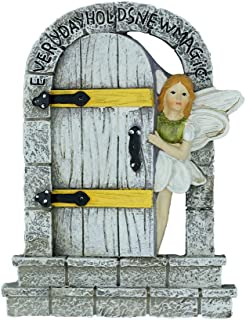 MUAMAX Fairy Door Miniature Door Mystical Door Magical Entrance Every Day Holds New Magic,Gifts Terrarium Charming Cobblestone Door