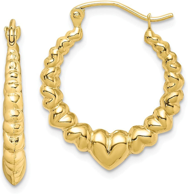 Beautiful Yellow gold 10K Yellowgold 10k Polished Hollow Classic Earrings