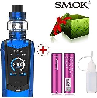 【 2 *18650付き】【SMOK正規品】Smok社製 最新の製品 ユニークなデザイン 230W SMOK SPECIES KIT TFV8 baby V2 tank V2メッシュコイル スターターキット (青 blue)