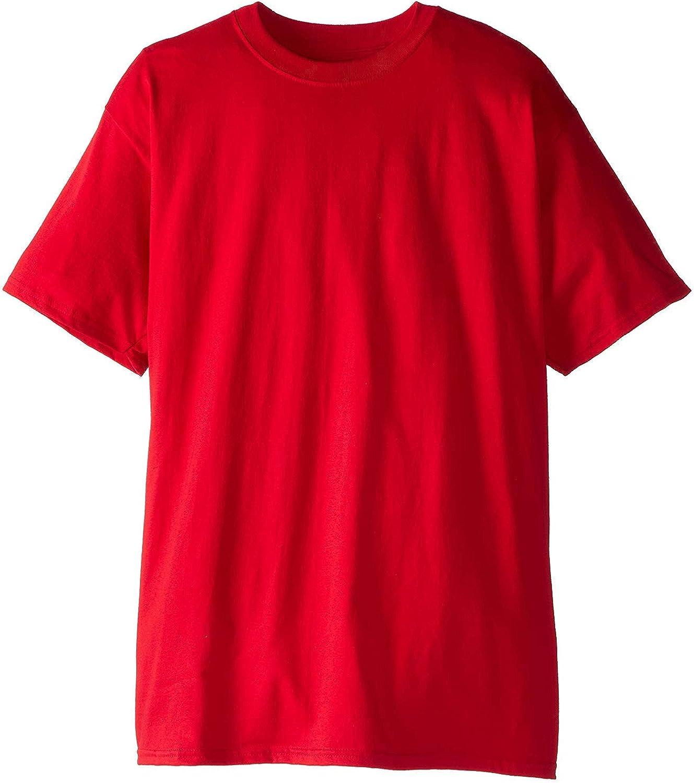 Hanes Men's Beefy-T Tall T-Shirt 2PK_Deep Red_2XT