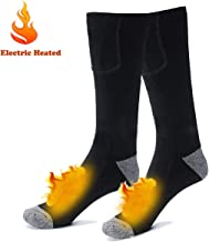 Electric Rechargeable Battery Heated Socks for Men Women,Winter Warm Thermo-Socks Outdoor Sports Ski Heating Sox for Cold Feet Thermal Socks Foot Warmer