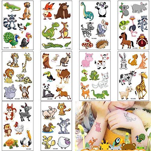 Kinder Tattoo, Einhorn temporäreTattoo Set Kindertattoos Aufkleber für Jungen Mädchen Kinder Spielen Mitgebsel Kindergeburtstag Party (Unicorn)