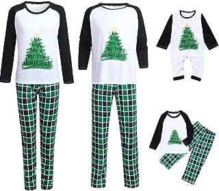 Matching Set Family Christmas Holiday Pj Pajamas Xmas Cotton Sleepwear Nightwear Parent Child Family Equipment