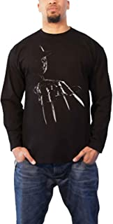 Nightmare On Elm Street Officially Licensed Freddy Krueger Long Sleeve Tee (Black)