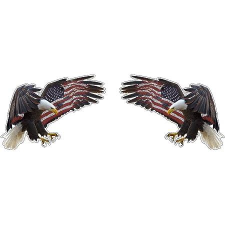 Adler Weisskopfseeadler Eagle Mit Usa Us Flügel Fahne Flag Amerika Aufkleber Sticker Plus Schlüsselringanhänger Aus Kokosnuss Schale Auto Motorrad Helm Laptop Windows Army Navy Patriot Tuning Auto