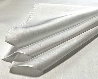 ハンカチ 白 サテン 55cm 5枚組 綿100% ブライダルハンカチ 白ハンカチ プチスカーフ 染色用 刺繍用