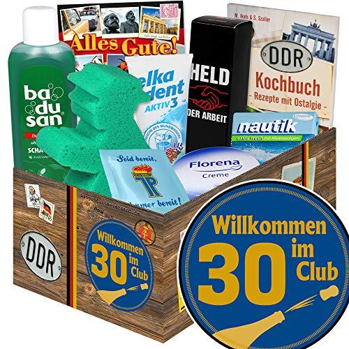 Wilkommen im Club 30 ++ Pflege Box DDR ++ Geschenk 30. Geburtstag