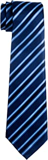 Preppy Stripe Pattern Woven Boy's Tie - 8-10 years - Various Colors