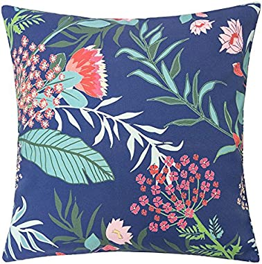 Homey COZY Outdoor Accent Pillow Cover,Tropical Garden Large Water/UV/Stain-Resistance Decorative Replacement Cushion Cover 2