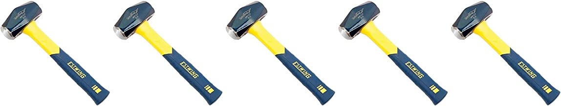 Estwing Sure Strike Drilling/Crack Hammer - 2-Pound Sledge with Fiberglass Handle & No-Slip Cushion Grip - MRF2LB-5 Pack