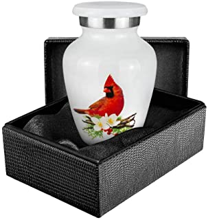 Trupoint Memorials Peace and Harmony Beautiful Red Cardinal Small Keepsake Urn for Human Ashes - Qnty 1 - A Comforting Res...