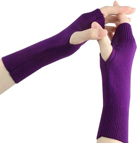 lowest Larcele Cashmere Half Fingerless Gloves popular Winter Warmer Mittens for online Ladies, Girls BZST-02 outlet sale