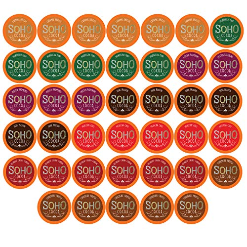 Soho Cocoa Variety Pack Hot Chocolate Pods for Keurig K-Cup Brewers, 40 Count