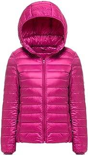 AbelWay Women's Hooded Ultra Light Weight Outdoor Coat Packable Outwear Puffer Down Jacket