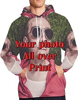 Personalized Photo Hoodie Mens Custom 3D Full Print Pullover Hooded Sweatshirt