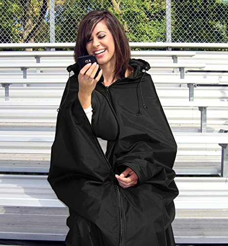Ultimate Sports Wrap - Patented - The Only Wearable Weatherproof/Stadium/Picnic/Sports Blanket, Complete...