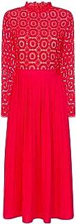 Alice Poppy Crochet Top Midaxi Vestido con Falda Plisada