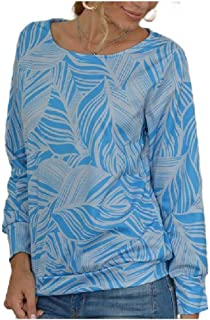 HEFASDM Women's T-Shirt Casual Loose Floral Print Crew Neck Blouse Top