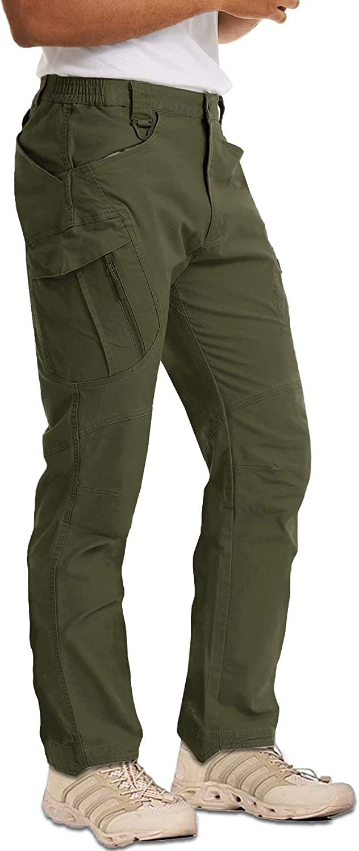 MAGCOMSEN Men's Outdoor Cargo Work Pants with 9 Pockets Cotton T