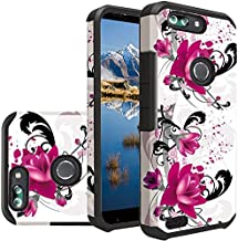 [ Storm Buy ] Durable Hard & Soft Sturdy Hybrid Dual Layer Rubber Phone Case Cover For [ ZTE Blade Z MAX/ZTE Z982/ZTE Sequoia ] (Purple Lily)