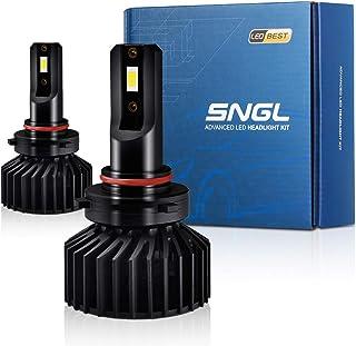 SNGL 9006 LED Headlight Bulbs Low Beam, 9006 LED Fog Lights Adjustable Beam Super Bright 70W 10000LM 6000K Xenon White