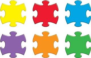 TREND enterprises, Inc. T-10906BN Puzzle Pieces Classic Accents Variety Pack, 36 Per Pack, 6 Packs
