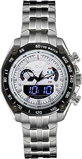 Men Dual Display Watches TVG Watch LED Screen Large Face Analog Digital Watch Waterproof Sport Watch Military Wrist Digita...