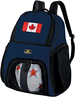 Canadian Flag Soccer Backpack or Canada Volleyball Ball Backpack