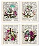 Alice im Wunderland Wandkunst, gerahmt, 20,3 x 25,4 cm, 4